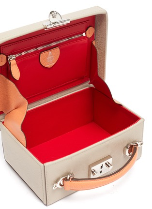 Detail View - Click To Enlarge - MARK CROSS - 'Joni' Top Handle Leather Box Bag
