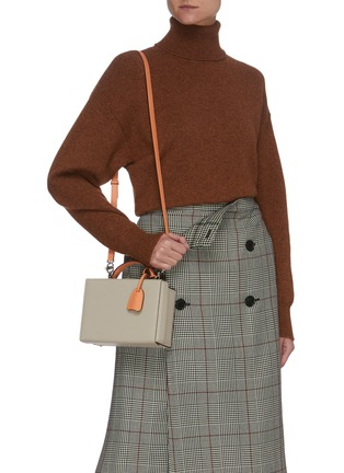 Figure View - Click To Enlarge - MARK CROSS - 'Joni' Top Handle Leather Box Bag