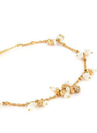 Detail View - Click To Enlarge - JOANNA LAURA CONSTANTINE - Mini pearl tassel ankle bracelet