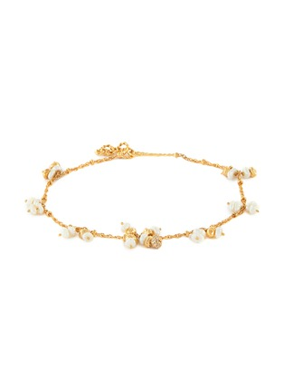 Main View - Click To Enlarge - JOANNA LAURA CONSTANTINE - Mini pearl tassel ankle bracelet