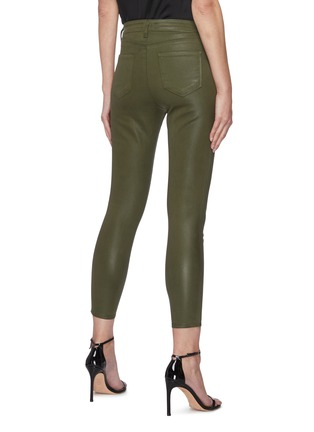 Back View - Click To Enlarge - L'AGENCE - MARGOT' COATED CROP SKINNY JEANS