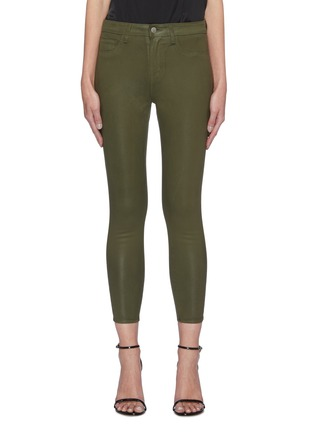Main View - Click To Enlarge - L'AGENCE - MARGOT' COATED CROP SKINNY JEANS