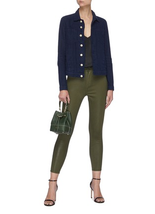 Figure View - Click To Enlarge - L'AGENCE - MARGOT' COATED CROP SKINNY JEANS