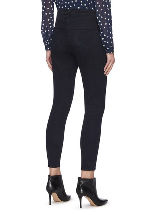 Back View - Click To Enlarge - L'AGENCE - Margot' dark wash skinny jeans