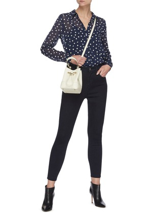 Figure View - Click To Enlarge - L'AGENCE - Margot' dark wash skinny jeans