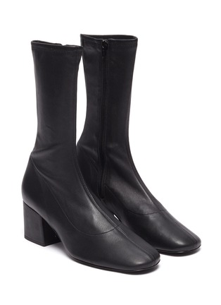 Detail View - Click To Enlarge - BY FAR - 'Carlos 22' Block Heel Leather Ankle Boots