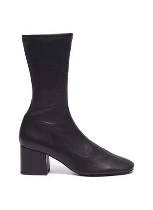 Main View - Click To Enlarge - BY FAR - 'Carlos 22' Block Heel Leather Ankle Boots