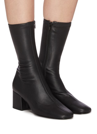 Figure View - Click To Enlarge - BY FAR - 'Carlos 22' Block Heel Leather Ankle Boots