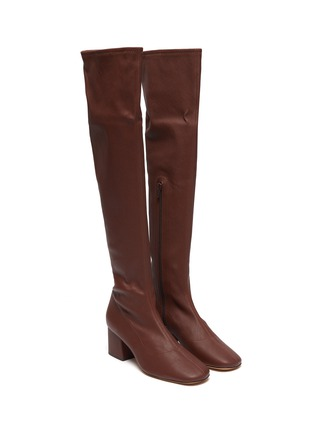 Detail View - Click To Enlarge - BY FAR - 'Carlos 42' Block Heel Leather Thigh High Boots