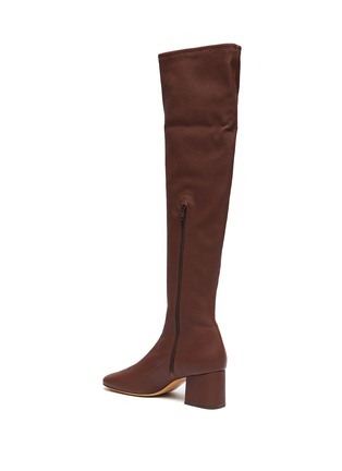 - BY FAR - 'Carlos 42' Block Heel Leather Thigh High Boots