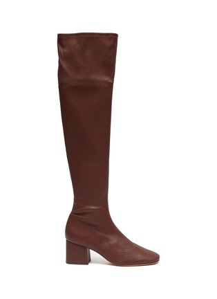 Main View - Click To Enlarge - BY FAR - 'Carlos 42' Block Heel Leather Thigh High Boots