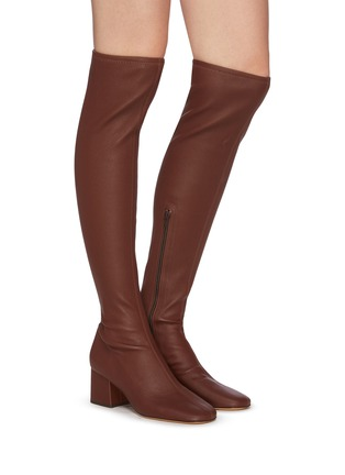 Figure View - Click To Enlarge - BY FAR - 'Carlos 42' Block Heel Leather Thigh High Boots