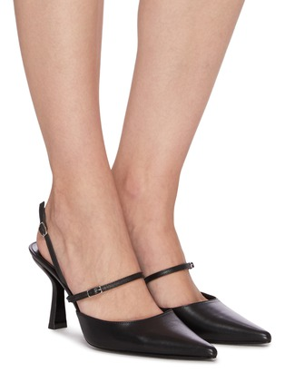 Figure View - Click To Enlarge - BY FAR - 'Tiffany' Slingback Middle Band Leather Pumps