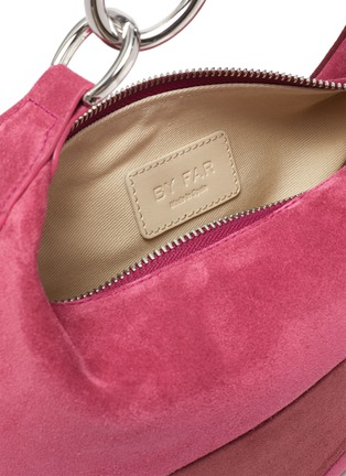Detail View - Click To Enlarge - BY FAR - 'Bougie' colourblock suede slouchy hobo bag
