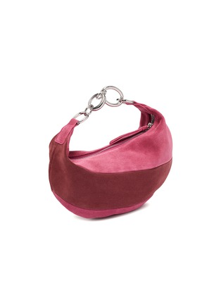 Back View - Click To Enlarge - BY FAR - 'Bougie' colourblock suede slouchy hobo bag