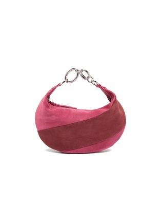 Main View - Click To Enlarge - BY FAR - 'Bougie' colourblock suede slouchy hobo bag