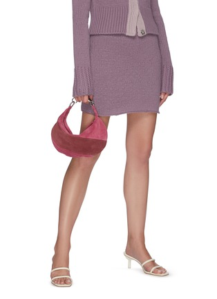 Figure View - Click To Enlarge - BY FAR - 'Bougie' colourblock suede slouchy hobo bag