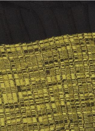 - PETAR PETROV - NIKA' Colourblock Silk Panel Turtleneck Merino Wool Rib Knit Sweater
