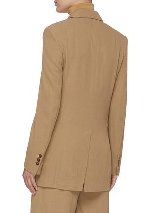 Back View - Click To Enlarge - PETAR PETROV - Jazz' peaked lapel wool gabardine blazer