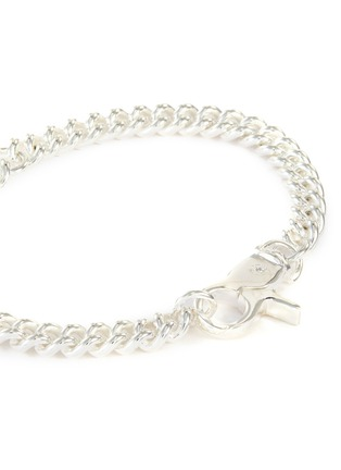 Detail View - Click To Enlarge - HATTON LABS - Sterling silver round cuban bracelet
