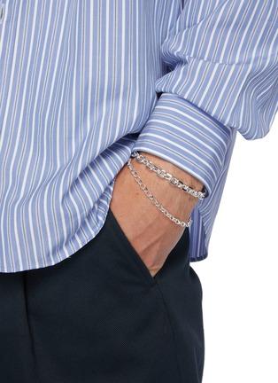 Figure View - Click To Enlarge - HATTON LABS - Diamond cut belcher bracelet