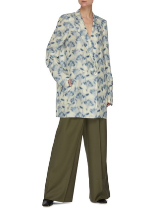 Figure View - Click To Enlarge - PETAR PETROV - Wrap around waist suiting pants