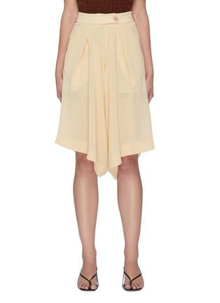 Main View - Click To Enlarge - PETAR PETROV - Pancy' basket weave crepe shorts