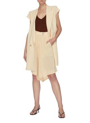 Figure View - Click To Enlarge - PETAR PETROV - Pancy' basket weave crepe shorts