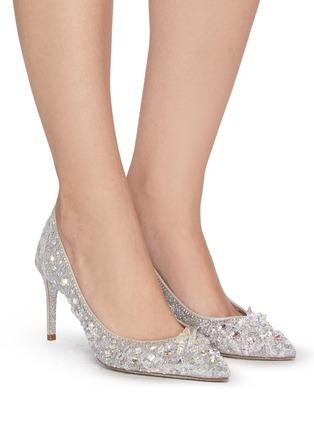 Figure View - Click To Enlarge - RENÉ CAOVILLA - Cinderella' Crystal Embellished Lace Pumps