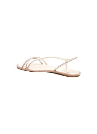 - RENÉ CAOVILLA - Waves' strass embellished satin sandals