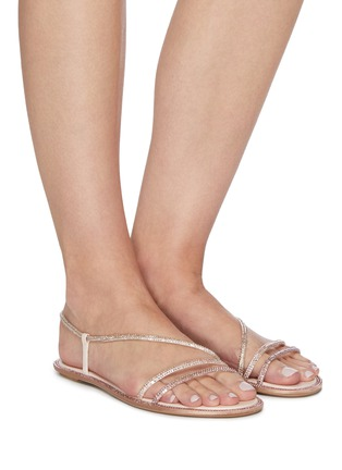 Figure View - Click To Enlarge - RENÉ CAOVILLA - Waves' strass embellished satin sandals