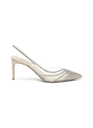 Main View - Click To Enlarge - RENÉ CAOVILLA - Waves' embellished satin pumps