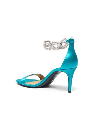 - STELLA LUNA - 'Stella Chain' Embellished Anklet Satin Heeled Sandals