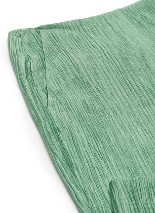 - NANUSHKA - 'Tabbie' metallic plissé pants