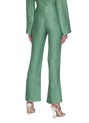Back View - Click To Enlarge - NANUSHKA - 'Tabbie' metallic plissé pants