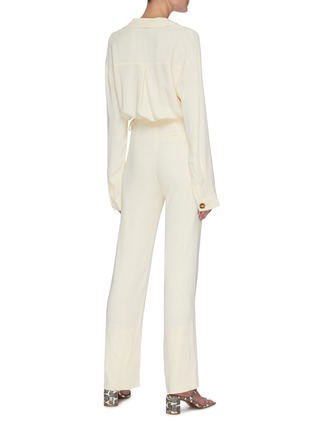 Back View - Click To Enlarge - NANUSHKA - 'Jude' waist cutout georgette jumpsuit