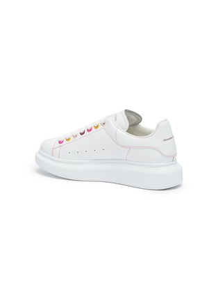 - ALEXANDER MCQUEEN - 'Oversized Sneakers' in Leather with Contrast Seam