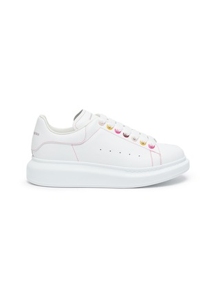 Main View - Click To Enlarge - ALEXANDER MCQUEEN - 'Oversized Sneakers' in Leather with Contrast Seam