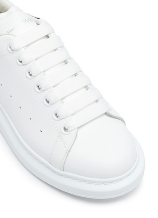 Detail View - Click To Enlarge - ALEXANDER MCQUEEN - 'Oversized Sneakers' in Calfskin Leather