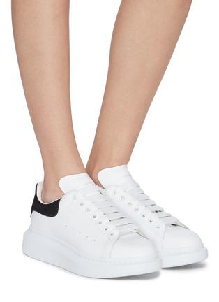Figure View - Click To Enlarge - ALEXANDER MCQUEEN - 'Oversized Sneakers' in Calfskin Leather