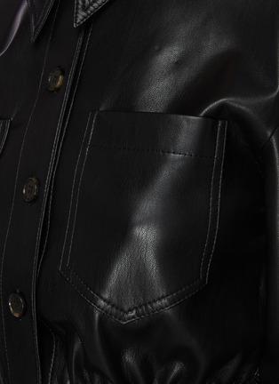 - NANUSHKA - Thalita' ruch waist vegan leather shirt