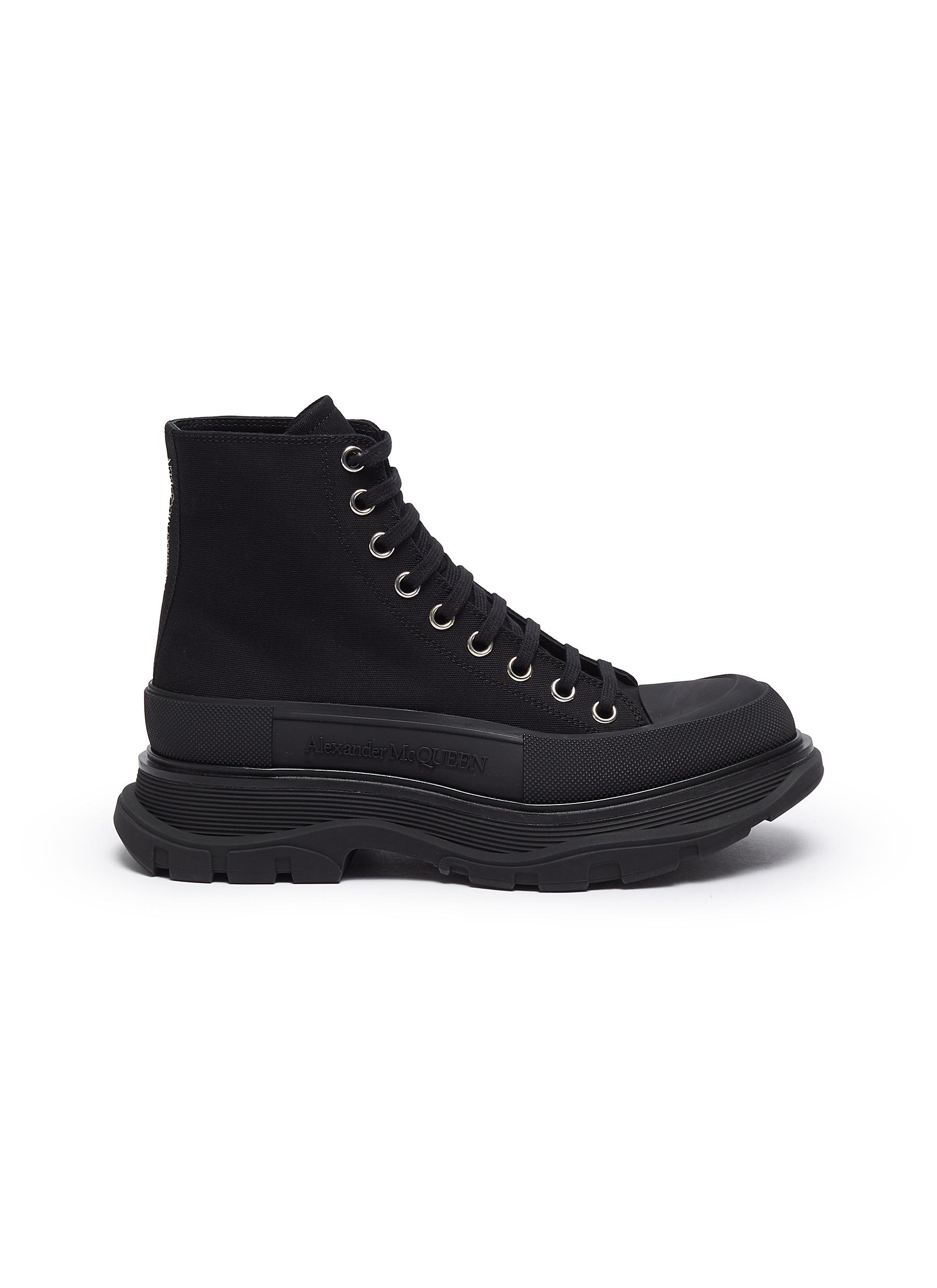 'Tread Slick' Platform Sole Round Toe Boots