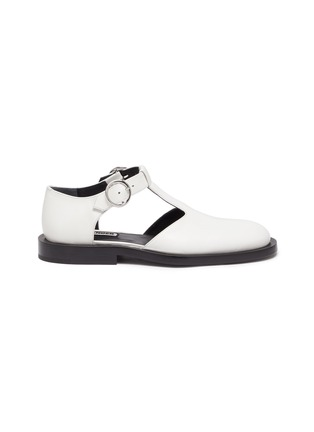 Main View - Click To Enlarge - JIL SANDER - Side cutout mary jane flats