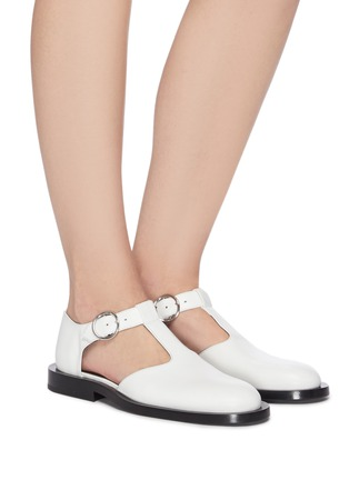 Figure View - Click To Enlarge - JIL SANDER - Side cutout mary jane flats