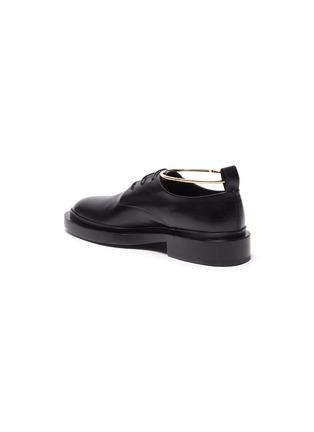 - JIL SANDER - Metal anklet ring leather brogue shoes