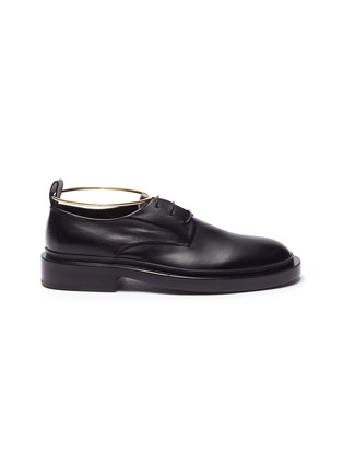 Main View - Click To Enlarge - JIL SANDER - Metal anklet ring leather brogue shoes