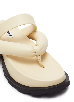 Detail View - Click To Enlarge - JIL SANDER - Cleated sole thong sandals