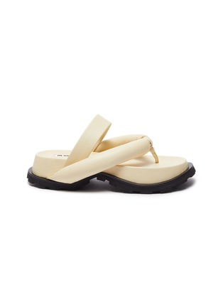 Main View - Click To Enlarge - JIL SANDER - Cleated sole thong sandals