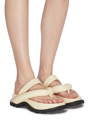 Figure View - Click To Enlarge - JIL SANDER - Cleated sole thong sandals
