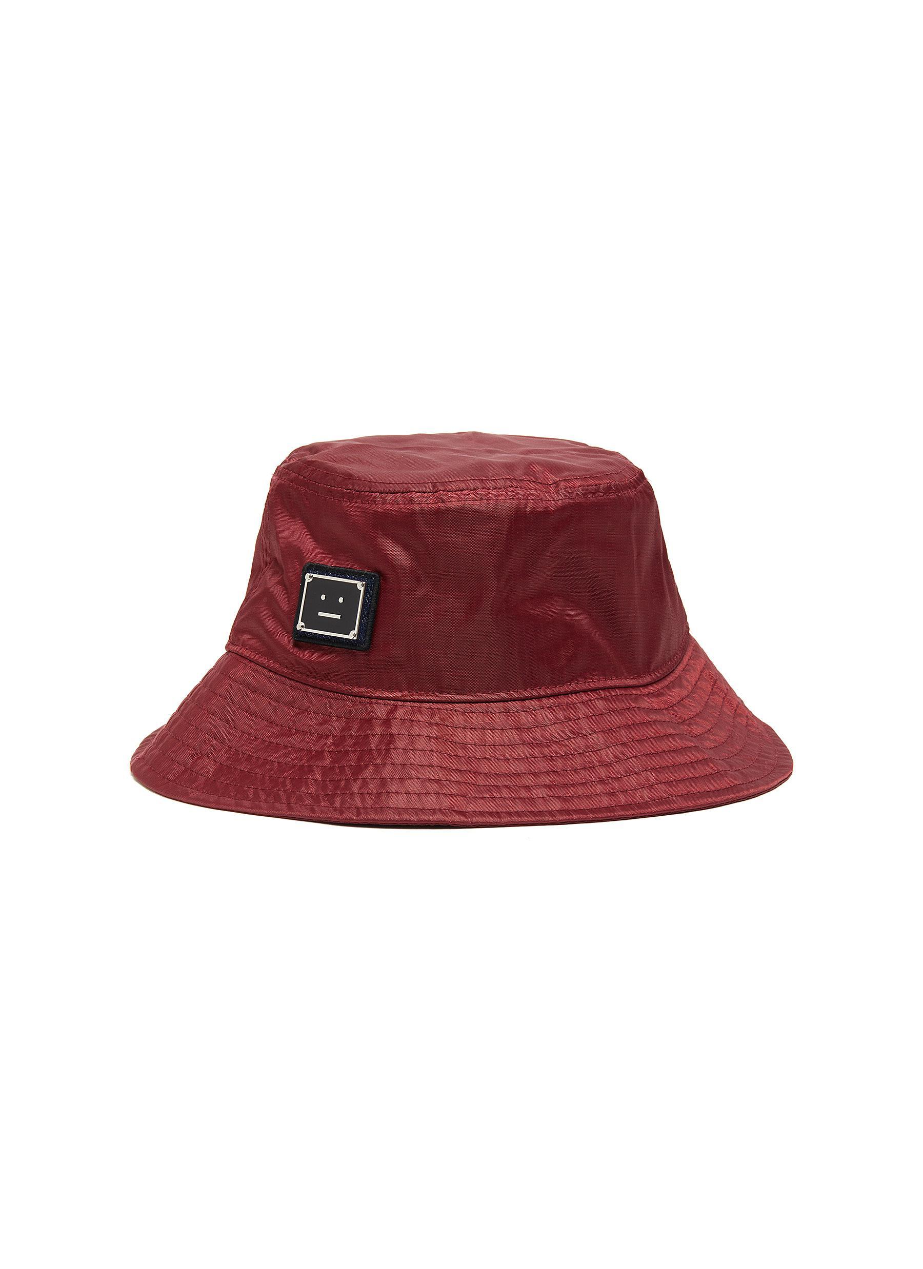 Acne Studios Accessories FACE PLAQUE NYLON BUCKET HAT